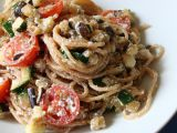Celozrnné špagety se zeleninou a ricottou recept