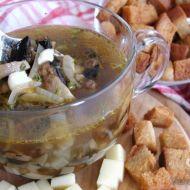 Rychlá žampionová polévka se smetanou recept