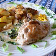 Kuřecí prsa s nivou a pórkem recept