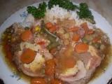 Vepřová roláda, dušená v zelenině recept