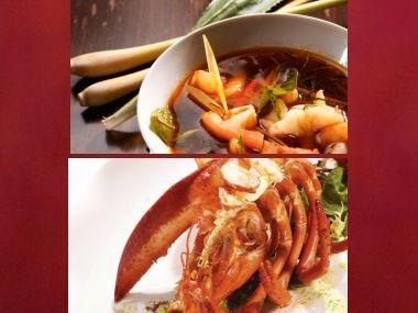 Sváteční oběd 33  Thajská polévka a Humr