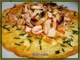 Omeleta s lososem a žampiony recept