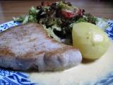 Steak z tuňáka s citronovo-hořčičnou omáčkou recept