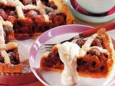 Mřížkový koláč s višněmi a mascarpone