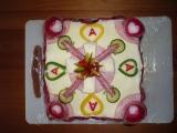 Slaný dort  ke svátku zamilovaných recept