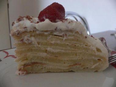 Palačinkový dort s pudinkem