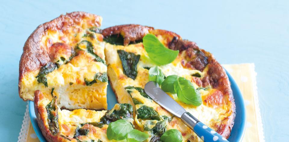 Omeleta s tvarohem a sýrem