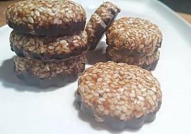 Raw fofr sezamové sušenky s čokoládou recept