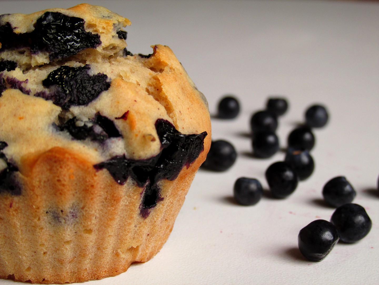Borůvkové muffiny s medem recept