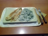 Pangasius s čerstvým špenátem recept