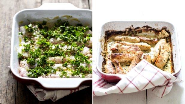 Filety z králíka s hořčicí a petrželí