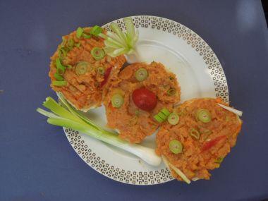Falešný tatarský biftek z Kostomlátek