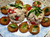 Salát z pečenáče a korunních sardinek s česnekovými krutonky ...