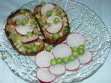 Hráškovo  ředkvičkové pyré recept