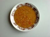 Rajčatová polévka s uzeninou a sýrem recept