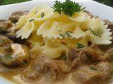Kuřecí žaludky s houbami na česneku recept