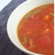 Rajská polévka s kuřecím masem a fazolkami recept