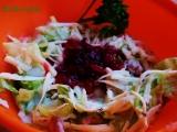 Salát s brusinkami recept