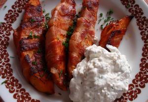 Batáty ve slanině