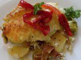 Zapékané brambory s růžičkovou kapustou recept