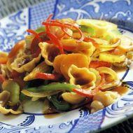 Těstoviny se zeleninou ve woku recept