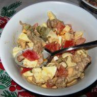 Vajíčkový salát s kuřecím masem recept