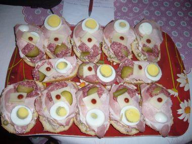 obložené chlebíčky dle Ludina