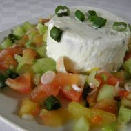 Tvarohový krém se zeleninovým salátem recept