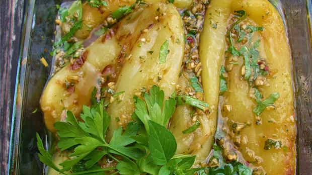 Marinované pečené papriky