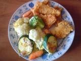 Pikantní rybí kousky se zapečenou zeleninou recept