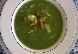 Polévka z čerstvého špenátu  jednoduchá a rychlá