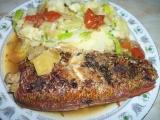 Moc dobrá pečená ryba-Okouník mořský recept