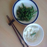 Čínské fazolky s rýží recept