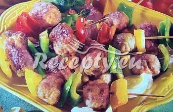 Zeleninové špízy s mletým masem recept  mleté maso