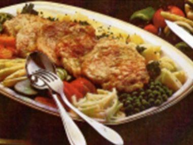 Kuřecí řízky obložené zeleninou