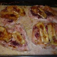 Kuřecí s brusinkami a hermelínem recept