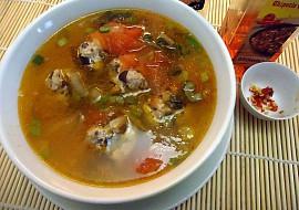 Kyselá polévka s masovými knedlíčky recept