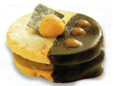 Ořechové placičky s čokoládou