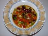 Jarní fazolačka s mrkví a jinou zeleninou recept