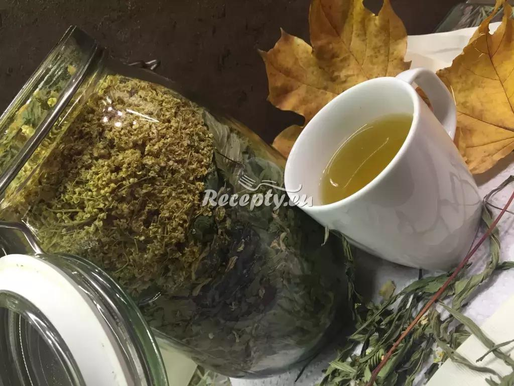 Čaj na vypocení recept  teplé nápoje