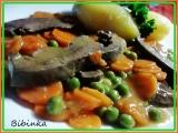 Vepřové srdce s mrkví a hráškem recept