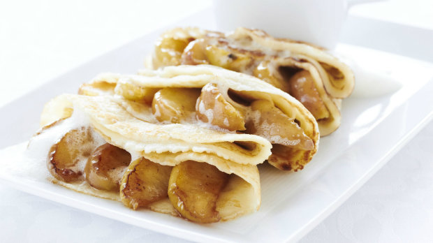 Jablkové palačinky s ciderovou omáčkou