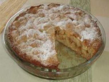 Jablkový koláč s mandlemi a čokoládou