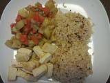 Zelenina s tofu a rýží recept