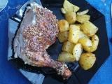 Pečené kuře s bazalkovonivovou krustou recept