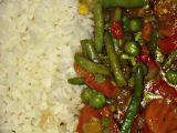 Zeleninová čína s rýží recept