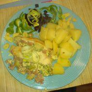 Nákyp z brokolice a luncheon meatu recept