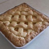 Jablečný mřížkový koláč recept