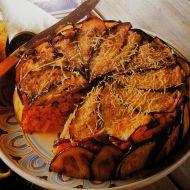 Macaroni zapečené s lilkem a masem recept