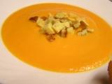 Mrkvový krém se sýrem a omeletou recept